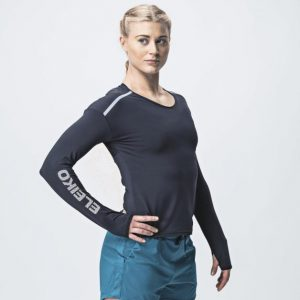 Ženské tričko s dlhým rukávom Grip - Jet Black