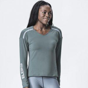 Ženské tričko s dlhým rukávom Grip - Mist Green
